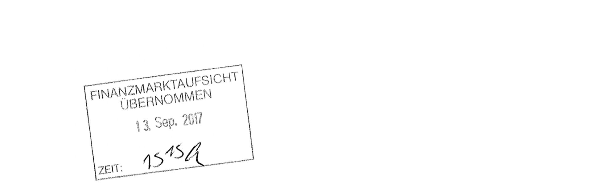 Posteingangstempel FMA - Einreichung Gemeinwohl-Konto
