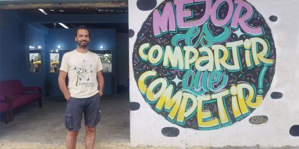 Albert mit Graffiti