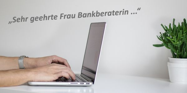 Mail an Bankberaterin