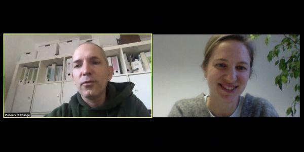 Videokonferenz Martin Anna