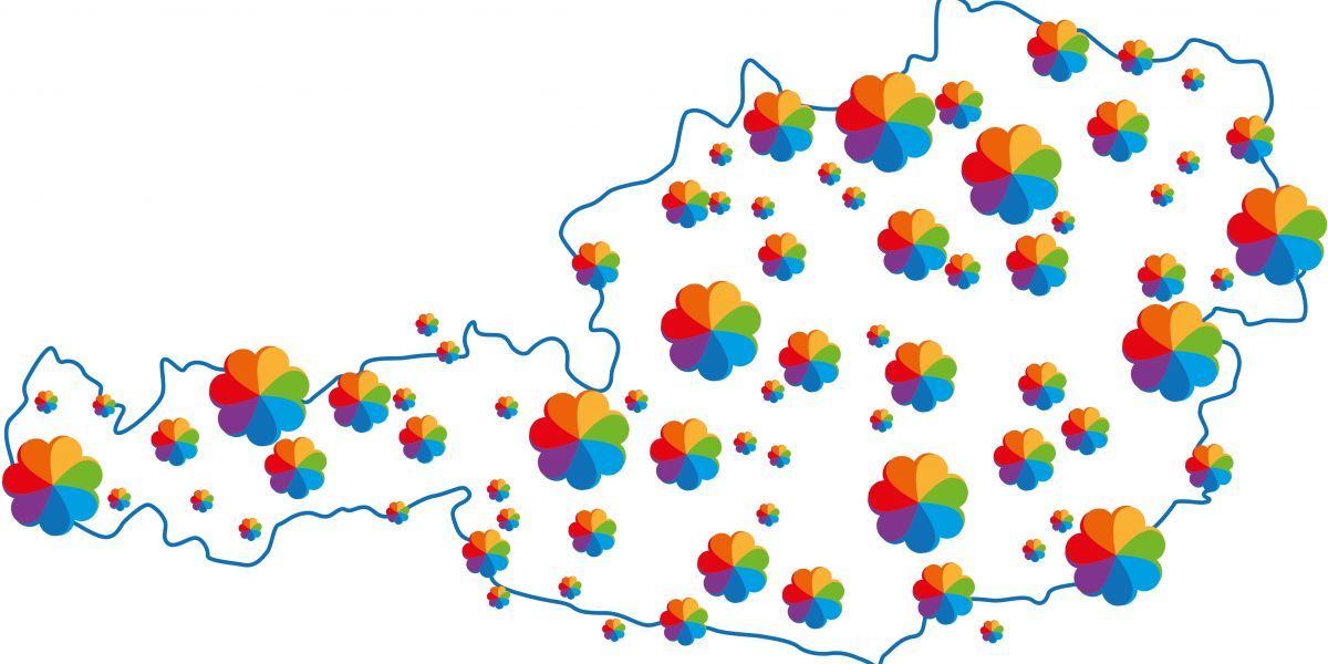 Österreichkarte mit BfG Regionalgruppen